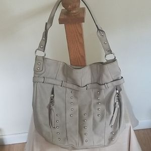 Kathy Ireland gray studded bag
